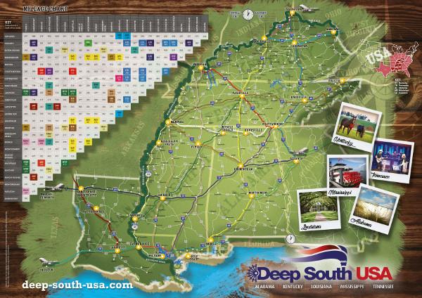 Downloads Maps: Deep South Usa Map At Usa Maps