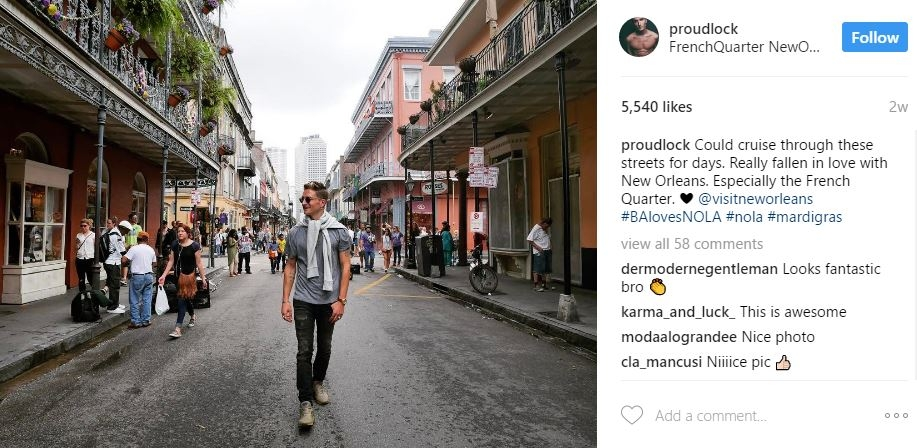 Made in Chelsea, Oliver Proudlock experiencing Mardi Gras in New Orleans