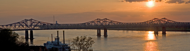 Sunset in Natchez, Mississippi