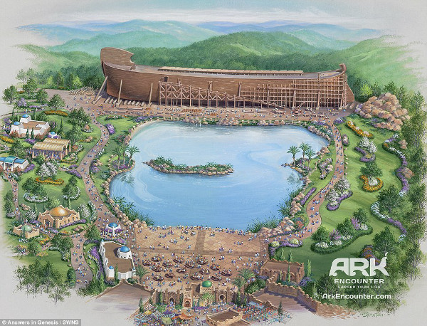Artists impression of Noah's Ark theme park