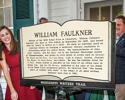 William Faulker MS Writers Trail Marker, credit: Bruce Newman