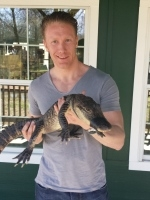 Neil with Alligator