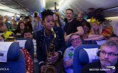 Party flight to Mardi Gras, New Orleans