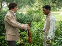 Benedict Cumberbatch and Chiwetel Ejiofor in New Orleanse for 12 Years a Slave