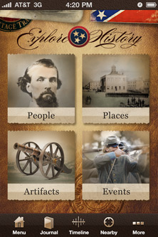 Civil War in Tennessee iPhone App