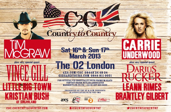 Country-to-Country, C2C, at The O2 in London