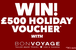 Win £500 Holiday Voucher